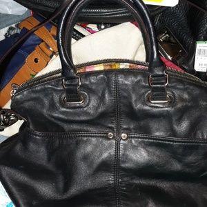 Black leather Tignanello bag